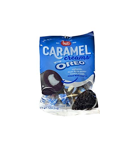 Goetze's Oreo Caramel Creams New Chocolate Chewy Candy Taffy 1 Bag 3.2 oz Like Cow Tails Vanilla Filled Center