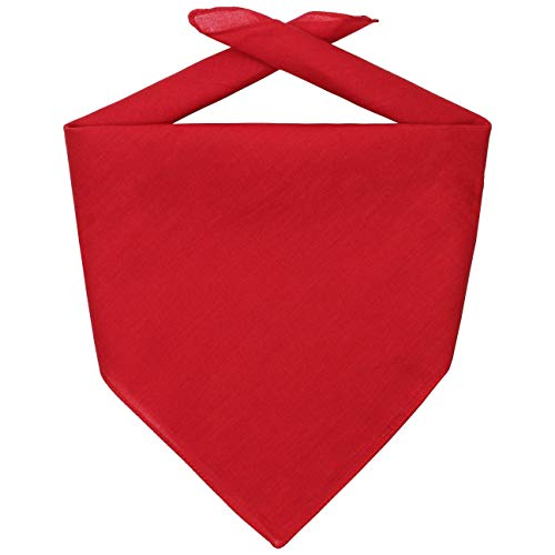 Hutshopping Bandana Tuch Bandanatuch Baumwolltuch Halstuch Bandanas Kopftücher (One Size - rot)