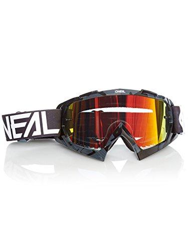 O'NEAL | Fahrrad- & Motocross-Brille | MX MTB DH FR Downhill Freeride | Hochwertige 1,2 mm-3D-Linse für ultimative Klarheit, UV-Schutz | B-10 Goggle | Erwachsene Unisex | Schwarz Weiß | One Size