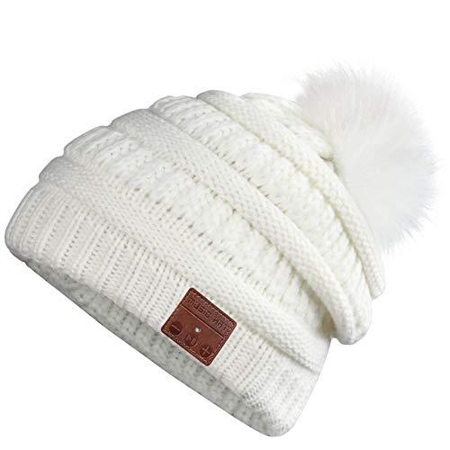 Bluetooth Beanie, Deegotech Winter Hats for Women Bluetooth 5.0 Wireless Headphones Beanie, Music Hats with Built-in Microphone, Knit Beanie Hat...
