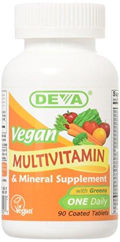 Deva Vegan Vitamins Daily Multivitamin & Mineral Supplement 90 tablets (Pack of 1)
