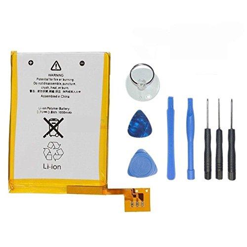 DDS-DUDES Batería de repuesto compatible con iPod Touch 5 5ª generación A1136 con kit de herramientas de reparación