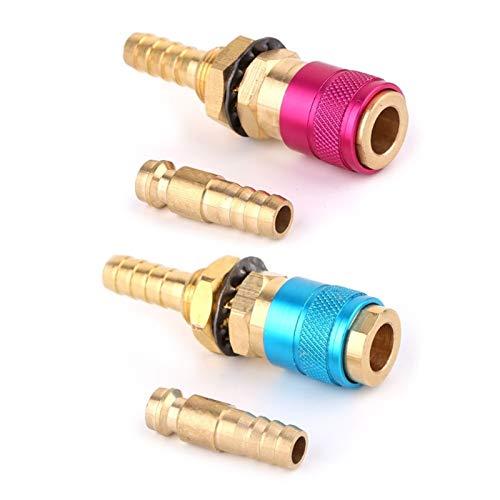 Antorcha de soldadura, Adaptador de gas enfriado con agua Conector rápido de ajuste para la antorcha de soldadura TIG + enchufe de 8 mm (Welding Diameter : Red)