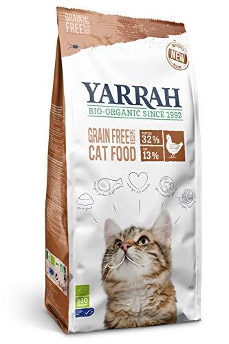 Yarrah Bio Katzen Trockenfutter Grain Free Huhn & Fisch, 3er Pack (3 x 2400 g)
