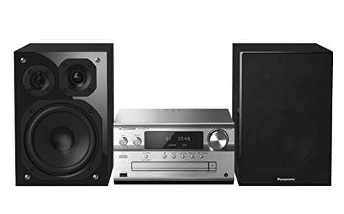 Panasonic SC-PMX152EGS Stereo mit Bluetooth (DAB+, CD, , Micro- mit 120 Watt RMS, USB, Airplay) silber