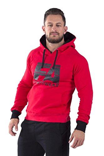 FA Sportswear Hoodie 01 Basic Red - XL - Kaputzenpullover - Trainings Sweater