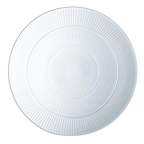 Luminarc 8021192 Lot de 6 Assiettes Plates, Verre, Transparent, 27 x 27 x 2 cm