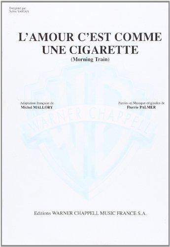 Vartan Sylvie L\'Amour C\'Est Comme Une Cigarette Voice & Piano Book