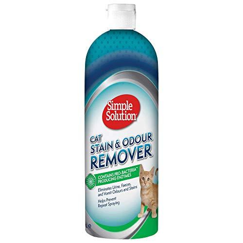 Simple Solution Flecken- und Geruchsentferner, gegen von Katzen verursachte Flecken und Gerüche, 1000 ml