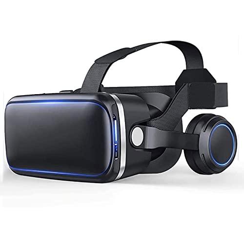 Gafas vr Auriculares VR, gafas de realidad virtual 3D, realidad virtual de VR para televisión, películas y videojuegos compatibles con iOS, Android y otros teléfonos inteligentes dentro de 4.7-6 pulga