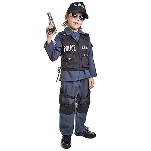 Kinder Deluxe S.W.A.T. Offizier Kostüm von Dress Up America