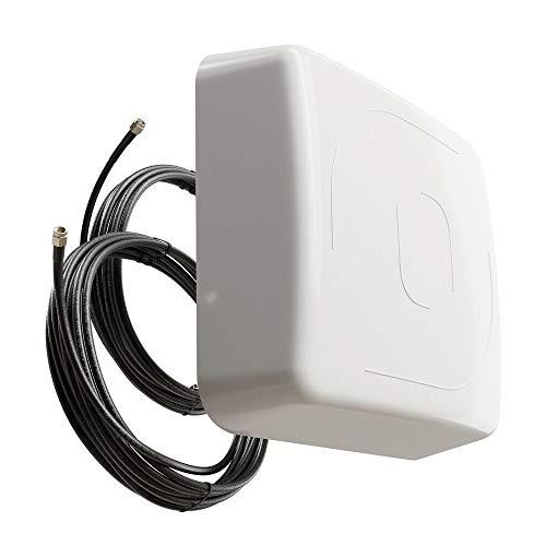 netshop 25 LTE Antenne Außenantenne HAN 2344 Multiband Duo Antenne MiMo 2X 15 dBi max. Verstärkung Wetterfest Outdoor 4G für LTE Router mit SMA Anschluss für alle Netze 800/1800 / 2600 MHz