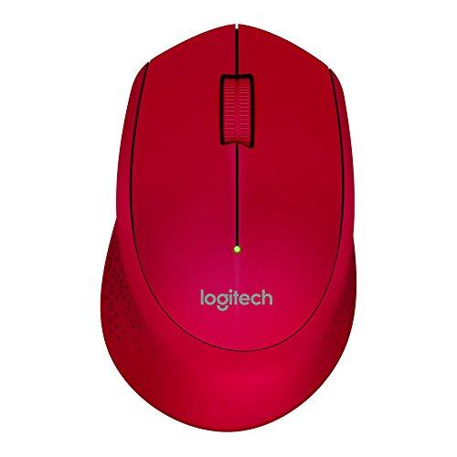 Mouse sem fio Logitech M280 com Conexão USB e Pilha Inclusa - Vermelho