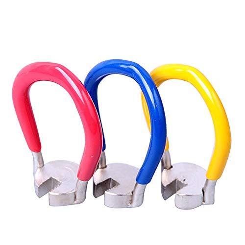 Jiele 3Stk Speichenwerkzeug beständig Fahrrad MTB Teile Speichenschlüssel Ring Speichenzieherwerkzeug für 14G-Nippel