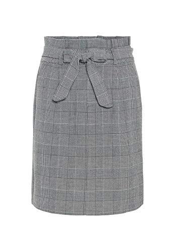 Vero Moda Vmeva HR Paperbag Short Check Skrt Noos Falda, Gris (Grey Checks: White), X-Large para Mujer