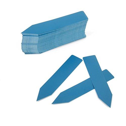 Nalmatoionme Environ 100 pcs en plastique pour chambre d'enfant Bâtons de pot de jardin Piquet étiquettes (Bleu)
