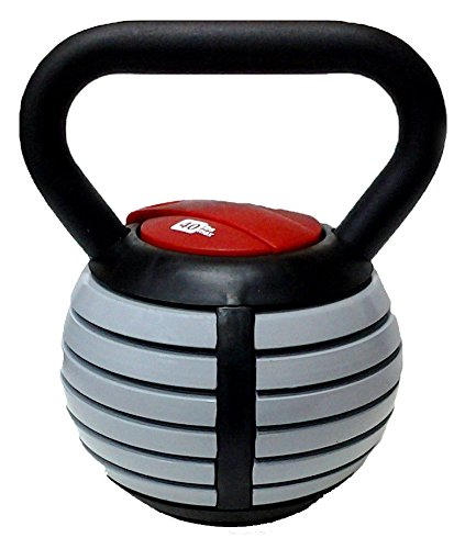 CFF Adjustable Russian Kettlebell Weights Includes DVD, 40-Pound