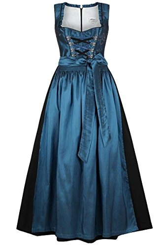 Stützle Damen Dirndl lang festlich blau, blau, 38