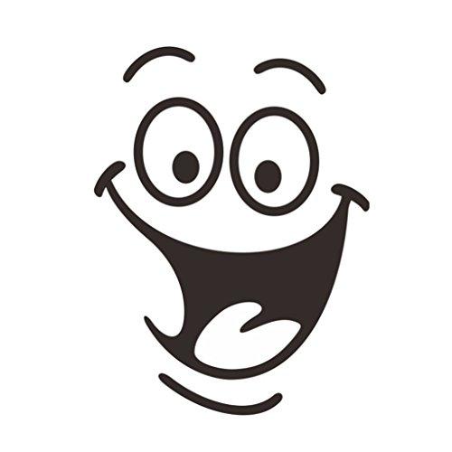 wufeng DIY Removable Lächeln Gesicht Lustige Badezimmer WC-Sitz Kunst-Wand-Aufkleber-Ausgangsdekor