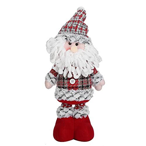 Boneco de neve de pelúcia, decorações de Natal de bonecos de neve Material de flanela de dois estilos Projeto escalonável para presentes para decorações de Natal(mais velho)