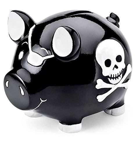 Mousehouse - Kinder Sparschwein - Piraten-Design - Geschenk für Jungen & Mädchen