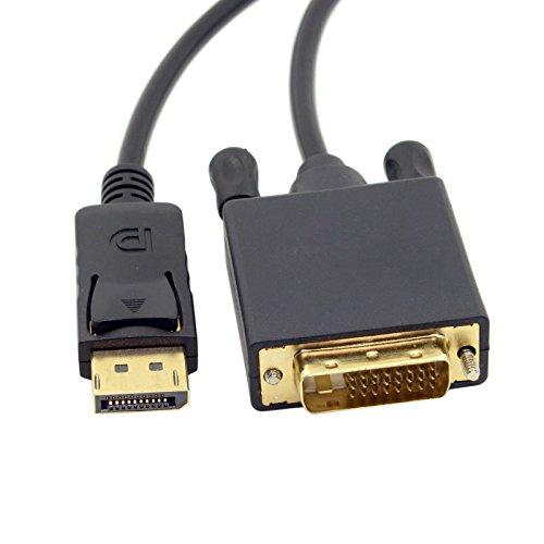 JSER Câble vidéo DisplayPort DP mâle vers DVI mâle Single Link 1,8 m pour moniteur DVI