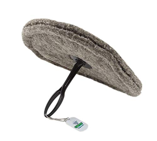 """10"""" Round Chimney Flueblocker – Herdwick Wool Wood Stove and Fireplace Draft Stopper Plug Excluder, Better Than an Inflatable Balloon or Pillow Saves Energy Blocks Drafts Fireplace Smells and Debris"""