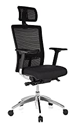 hjh OFFICE 657501 office chair executive chair ASTRA LUX mesh black, extremely stable upholstery fabric, high seating comfort, ergonomic swivel chair, adjustable armrests, desk chair, executive chair