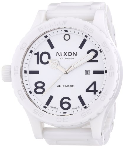 Nixon Men's A147-126 The 51-30 White Dial Ceramic Band Watch