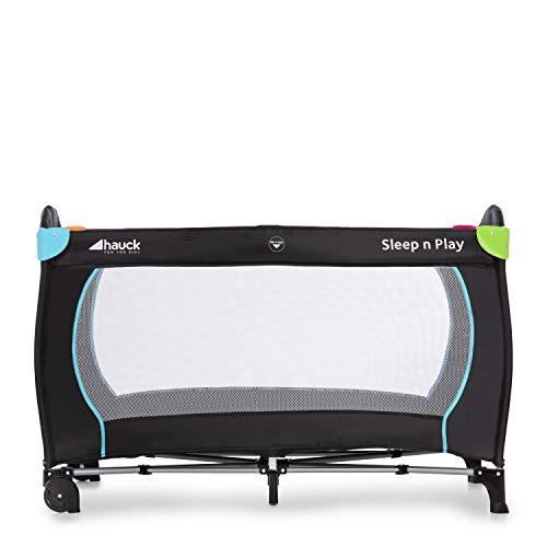 Hauck Sleep N Play Go Plus Kombi-Reisebett, 4-teilig, ab Geburt bis 15 kg, inkl. Gesetzl. Schlupf, Rollen, Matratze, Tragetasche, mehrfarbig schwarz - 3
