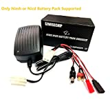 Only Nimh, Nicd Battery Pack Fast Charger 3~9 Cells (3.6V, 4.8V, 6V, 7.2V, 8.4V, 9.6v,10.8V) for Airsoft Packs, Toy RC (Radio-Controlled) Model Cars, Hobby, Boats, Aircraft Batteries Multi Leads