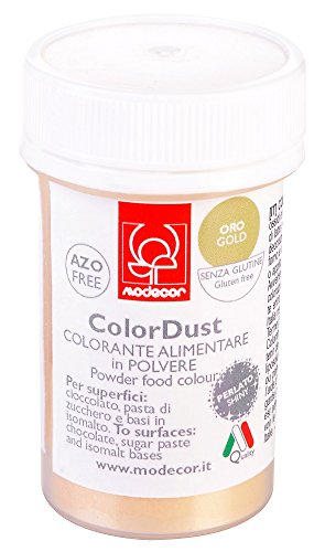 Colorante alimentare in polvere liposolubile 3 gr Modecor - oro