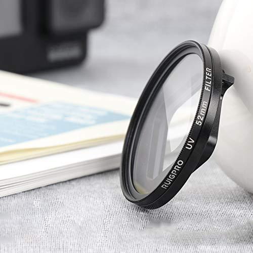 HEXIAOLONG Accesorios de la cámara For GoPro Hero 7/6 / 5 Profesional Filtro de la Lente 52mm UV con Filtro Adaptador de Anillo y Tapa del Objetivo