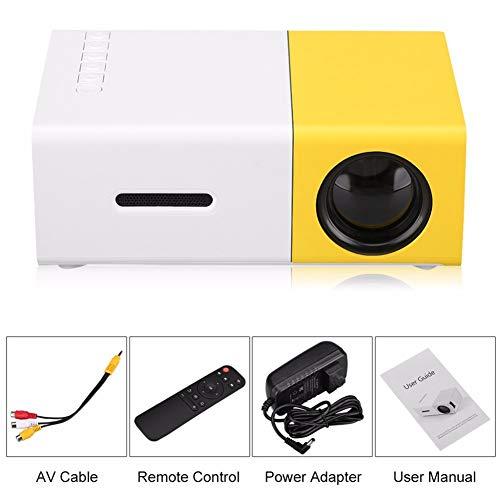 DCSHOP HD Projektor Beamer, 320x240 Mini Beamer Full HD Projektor 1080P 30000 Stunden Tragbar Projektor LED Video Beamer Zum Ansehen Von Filmen, Fernsehen, Spielen, PowerPoint-Präsentationen
