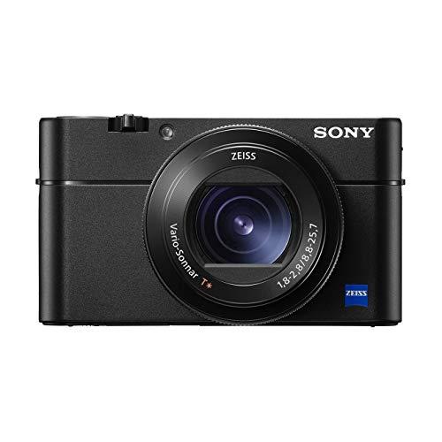 Sony RX100 V Premium Kompakt Digitalkamera (20,1 MP, 7,6 cm (3 Zoll) Display, 1 Zoll Sensor, 24-70 mm F1.8-2.8 Zeiss Objektiv, 4K, herausragende Autofokusleistung) (DSC-RX100M5A) schwarz