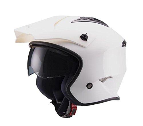 Unik Ct-07 Trial Helm voor heren met zonnebril, kleur-wit, groot-groot