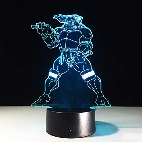 Lampe 3D Teenage Mutant Ninja Turtles avec lampe de couchage pour garçons effet