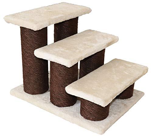 Liszton Katzentreppe und Hundetreppe, 3 Stufen Tiertreppe, Treppe für Katze, 45 x 35 x 34 cm, Maximale Belastung 50 kg