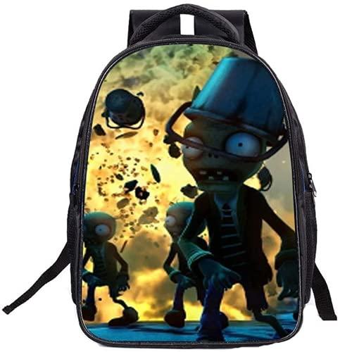 Mochila de girasoles Erbsenkanone Zombie, mochila escolar, bolsa de viaje para niños (B3,16 pulgadas)