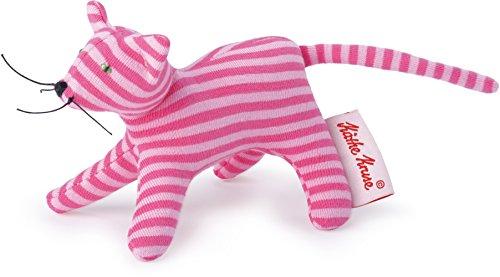 Käthe Kruse 0178371 Mini Greifling Katze, Ringel rosa