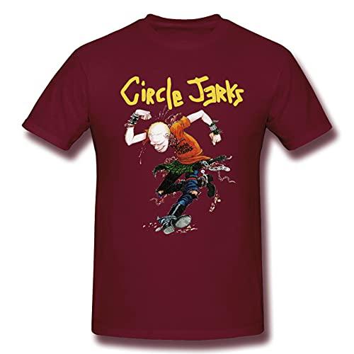 Circle Jerks - Camiseta básica de manga corta para hombre, color negro