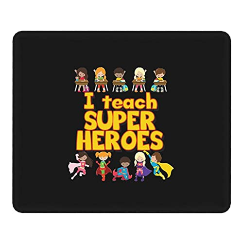 Garmnt I Teach Super Heroes,I Love My Students Teach Cute Mouse Pad with Stitched Edge,Non-Slip Rubber Gaming Mouse Pad,Large Mouse Pad for Office Decor,Laptop,Computer,Home,Gifts