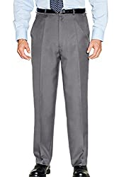 Quality Smart Traditional Trousers Back waist elastication, Full fitting 2 side pockets 1 button back pocket Hook/bar front fastening Zip Fly