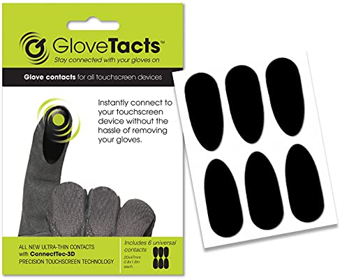 GloveTacts Ultra Thin Conductive Touch Screen Stickers for Gloves