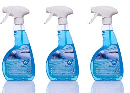 KaiserRein Scheibenentfroster 3 x 0,5L Scheibenenteiser Spray Verkratzen der Scheiben verhindert und damit die Verkehrssicherheit durch blendfreies Fahren deutlich erhöht