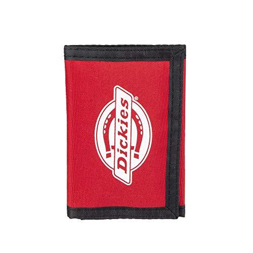 Dickies Herren Nylon Trifold Wallet Geldbörse, rot, Einheitsgröße