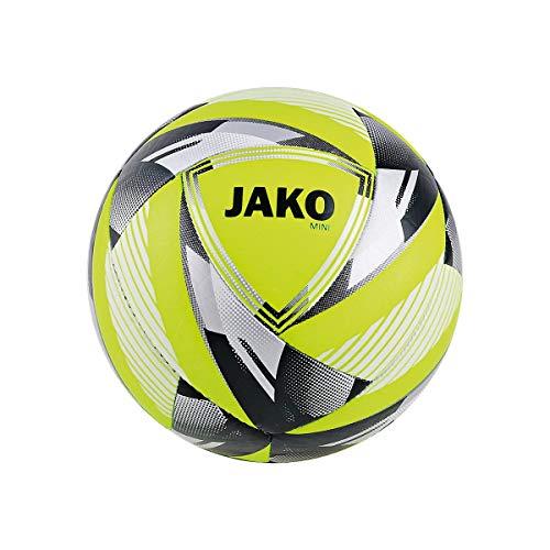 JAKO Miniball Neon Fußbälle, Neongelb/Silber, 1