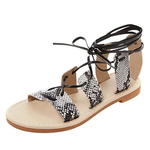 iHENGH 2019 Nuovi Sandals Women Pantofola Estivo Roma Sandali Donna Moda Casual Infradito Elegante Trasparenti Ragazza Sandalo Donna Peep Toe Regalo(Bianco,41)