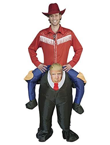 TrendClub100® Aufblasbares Trump Kostüm mit Ventilator (Trump)