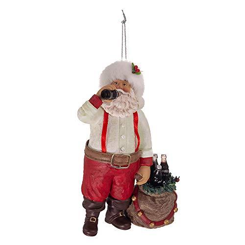 Kurt Adler CC9162 Décoration Père Noël en Train de Boire du